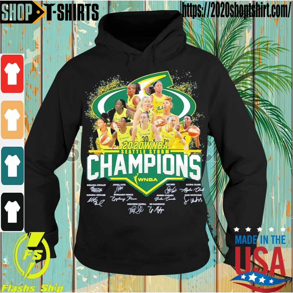 2020 WNBA seattle storm Champions signatures s Hoodie