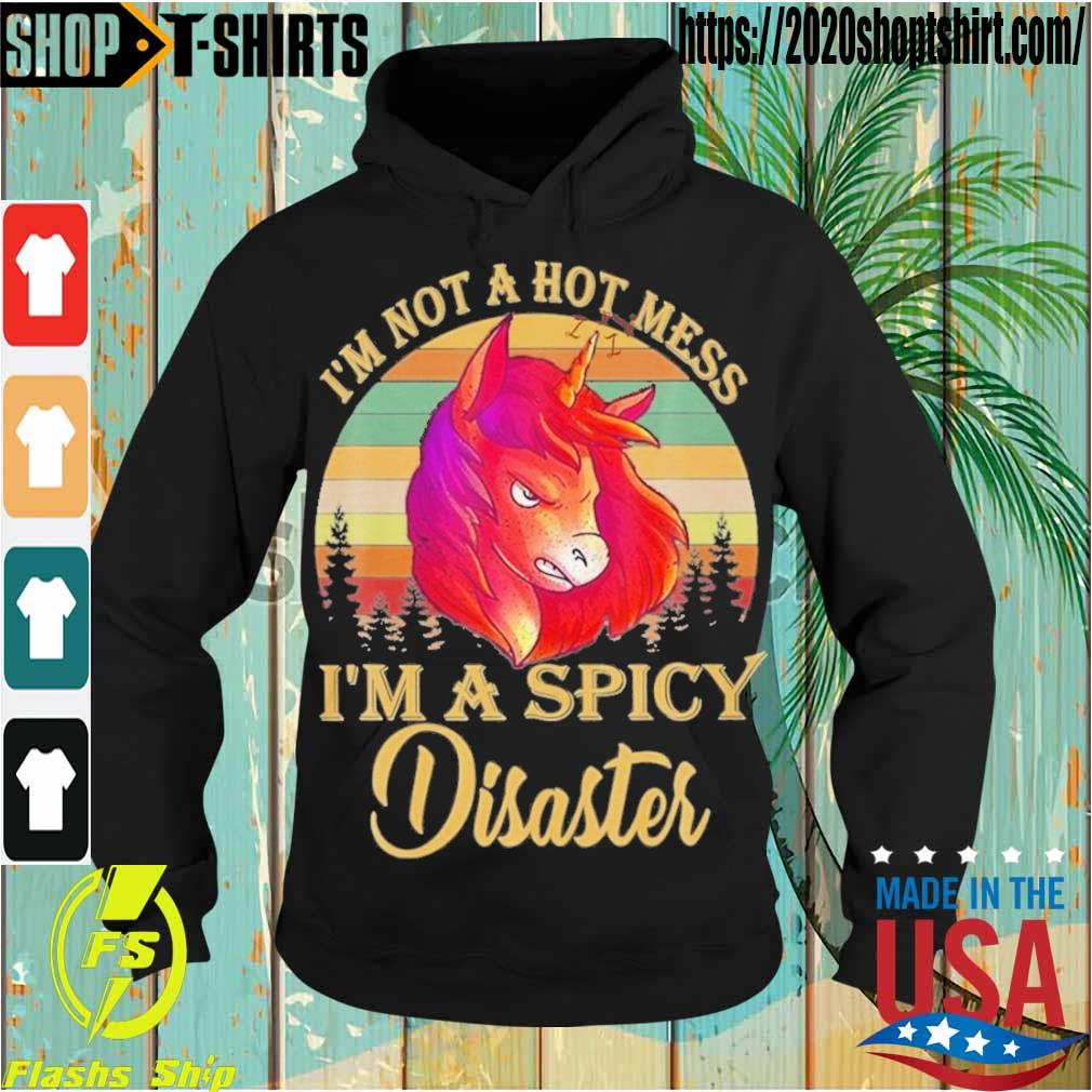 Horse I'm not a hot mess I'm a spicy Disaster vintage s Hoodie
