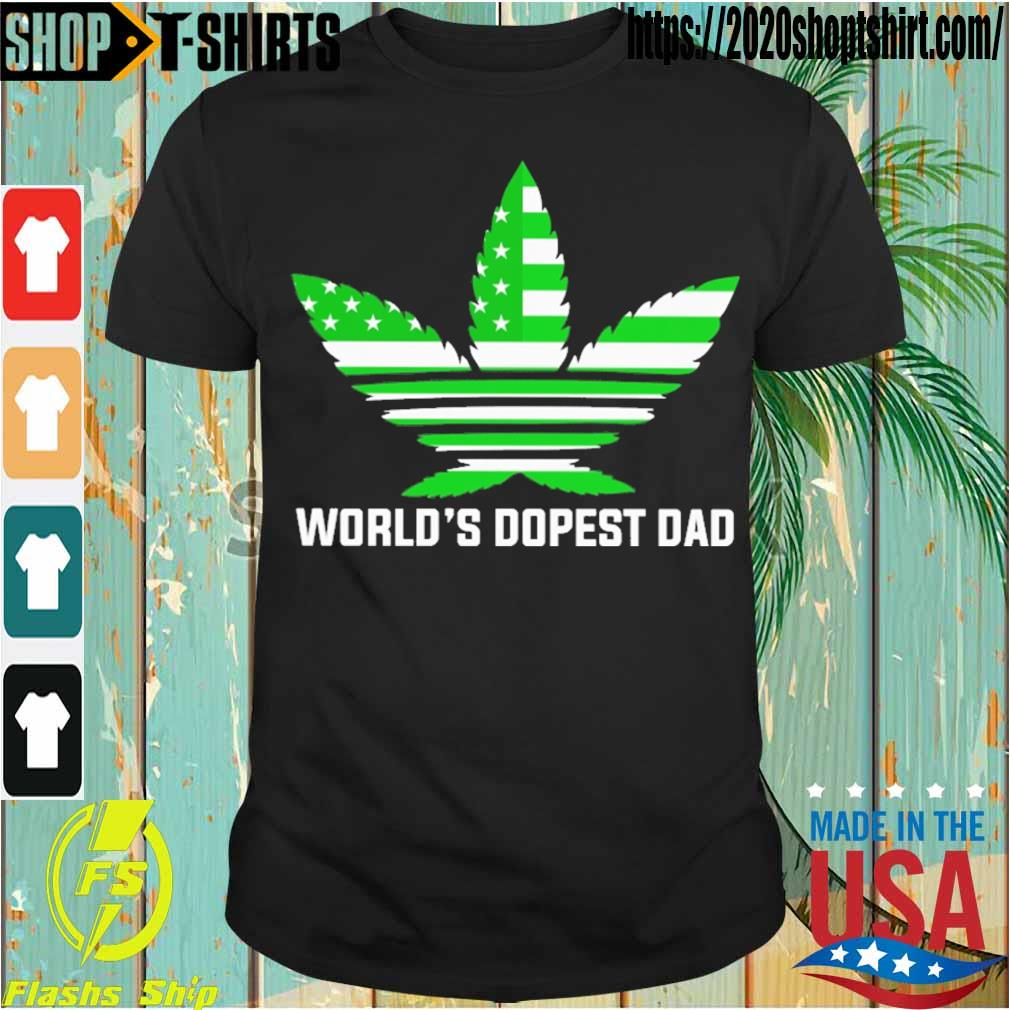 Weed Adidas American world's dopest Dad shirt